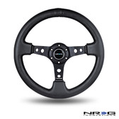 "350mm Sport Steering Wheel (3"" Deep) - Leather"