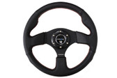 320mm Sport Leather Steering Wheel w/ red stitch