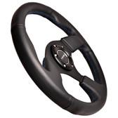 320mm Sport Leather Steering Wheel w/ Blue stitch