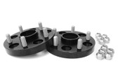 Wheel Spacers 25mm DRM Style for 02-14 WRX or 5-100, 56mm Hub Black Anodized  (Part No.PSP-WHL-026BK)