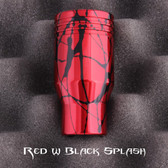 Red W/Black Piston