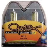 Hella Optilux H11 55W XY Extreme Yellow Bulbs (Pair)