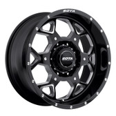 S.K.U.L. 24x10.5 8x6.5 -25mm  Death Metal (Black Milled)