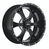 NOVAKANE 6  20x10 6x135 -19mm  Death Metal (Black Milled)