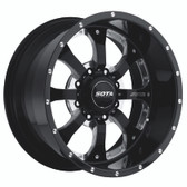 NOVAKANE 8  22x10.5 8X6.5 -25mm  Death Metal (Black Milled)