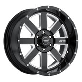 A.W.O.L. 20x10 6x5.5 -25mm  Stealth Black (Satin Black)