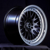 JNC001 Gloss Black Machine Lip 17x9 5x100/5x114.3 +20
