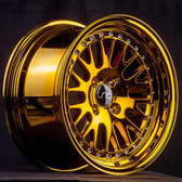JNC001 Gold Chrome 15x8 4x100 +25