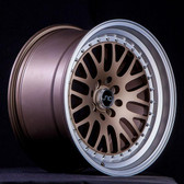 JNC001 Matte Bronze Machine Lip 17x9 4x100/4x114.3 +20
