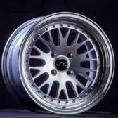 JNC001 Silver Machined Face 16x9 4x100/4x114.3 +25