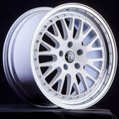 JNC001 White Machined Lip 15x9 4x100/4x114.3 +10