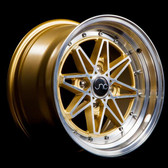 JNC002 Gold Machined Face 15x8 4x100 +25