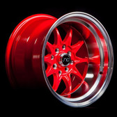 JNC003 Red Machined Lip 15x9 4x100/4x114.3 +0