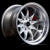 JNC003 Silver Machined Lip 15x8 4x100/4x114.3 +0