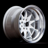 JNC003 White Machined Lip 15x8 4x100/4x114.3 +0