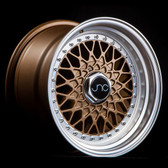 JNC004 Matte Bronze Machined Lip 16x8 5x100/5x114.3 +25