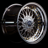 JNC004 Platinum Gold Rivets 16x8 4x100/4x114.3 +20