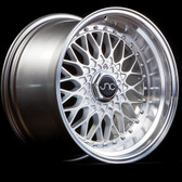 JNC004 Silver Machined Lip 17x8.5 5x100/5x114.3 +15