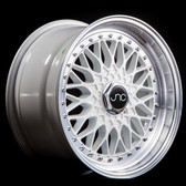 JNC004 White Machined Lip 17x8.5 4x100/4x114.3 +15