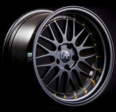 JNC005 Black Gold Rivets 20x10 5x112 +25