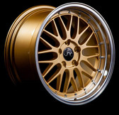 JNC005 Gold Machined Lip 18x9 5x120 +34