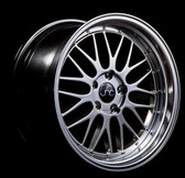 JNC005 Hyper Black Machine Lip 20x10 5x112 +25