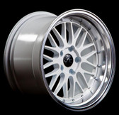 JNC005 White Machined Lip 20x8.5 5x114.3 +30