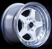 JNC009 White Machined Lip 15x8 4x100/4x114.3 +25