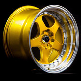 JNC010 Candy Gold Machined Lip 15x9 4x100/4x114.3 +20