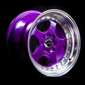 JNC010 Candy Purple Machined Lip 15x8 4x100/4x114.3 +20