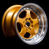 JNC010 Gold Machined Lip 15x8 4x100/4x114.3 +20