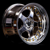 JNC010 Platinum Gold Rivets 18x10 5x114.3 +30