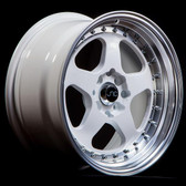 JNC010 White Machined Lip 15x9 4x100/4x114.3 +20