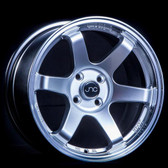 JNC014 Hyper Silver Machined Lip 17x8.25 4x100/4x114.3 +32