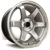 JNC014 Silver Machined Lip 17x9.25 5x100 +32