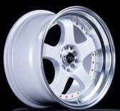 JNC017 White Machined Lip 18x8.5 5x100/5x114.3 +25