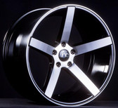 JNC026 Black Machined Face 18X9 5X112 +35