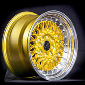 JNC031 Candy Gold Machined Lip 15x8 4x100/4x114.3 +20