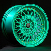 JNC031 Candy Green Gold Rivets 17x9 5x100/5x114.3 +30