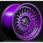 JNC031 Candy Purple Gold Rivets 15x8 4x100/4x114.3 +20