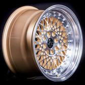 JNC031 Gold Machined Face 15x8 4x100/4x114.3 +20