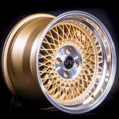 JNC031 Gold Machined Lip 15x8 4x100 +20