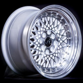 JNC031 White Machined Lip 15x8.25 4x100 +20