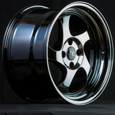 JNC034 Black Chrome 16x8 4x100 +25
