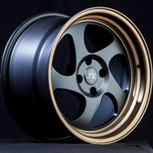 JNC034 Matte Black Bronze Lip 16x8 4x100 +25
