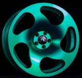 JNC036 Transparent Green 18x9.5 5x100 +38