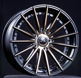 JNC042 Matte Black Machined Bronze Face 20x10 5x114.3 +38