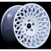 JNC043 Full White 15x8 4x100 +25