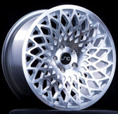 JNC043 Silver Machine Face 15x8 4x100 +25