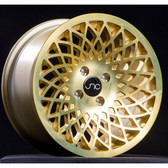 JNC043 Transparent Gold 15x8 4x100 +25